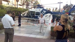 Helicóptero en la Rambla de Almería