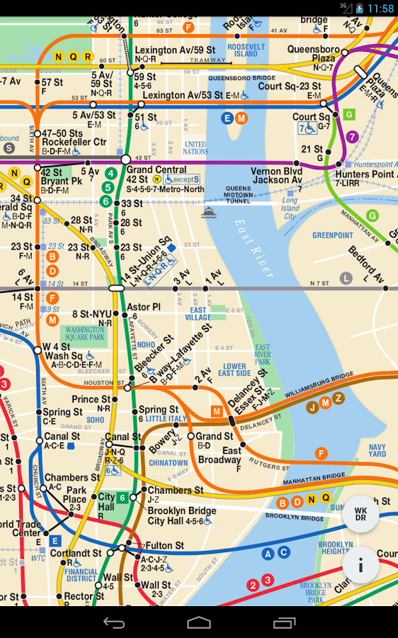 Nyc Dynamic Subway Map Android Apps On Google Play