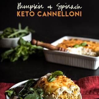 Keto Pumpkin & Spinach Cannelloni.