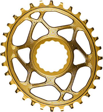 Absolute Black Oval Narrow-Wide Direct Mount Chainring - CINCH Direct Mount, 3mm Offset, Colored  alternate image 4