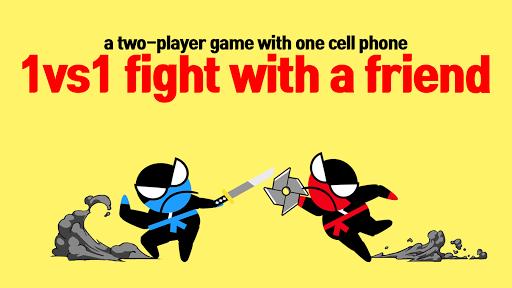 Jumping Ninja Battle - Two Player battle Action 3.95 screenshots 13