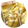 Gold Silk Glitter Theme: Dynamic Luxury  music APK icon