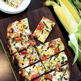 Sweet Corn Vegetable Flatbread Recipe