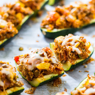 Vegetarian Stuffed Zucchini Boats Recipes.
