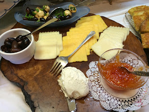 Photo: Cheese Selection with Vanessa's Hot Pepper Jelly