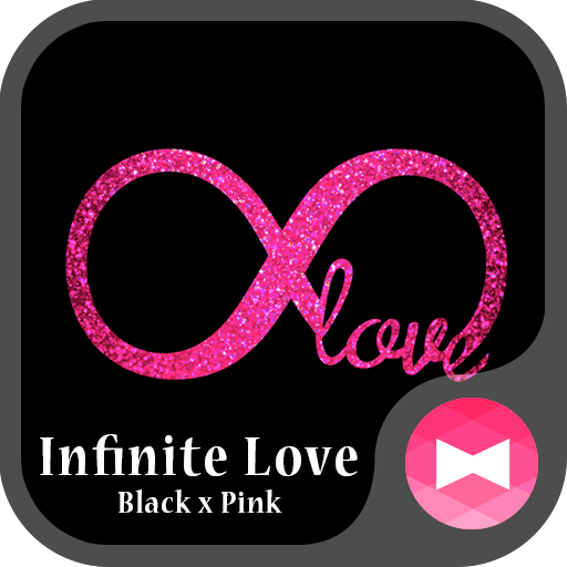 Glitter Wallpaper Infinite Love Black x Pink Theme Icon