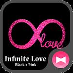 Glitter Wallpaper Infinite Love Black x Pink Theme Icon