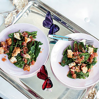 Spinach Salad with Garlic-Cider Vinaigrette