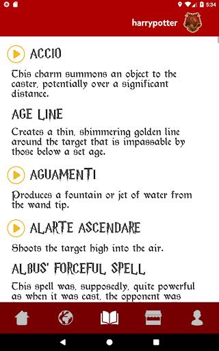 Spells Book & Quiz Harry Potter 14.2 screenshots 6
