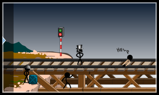 Stickman Puzzle Train Lost