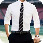 Men Shirt With Tie Photo Suit Maker Icon