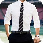 Men Shirt With Tie Photo Suit Maker