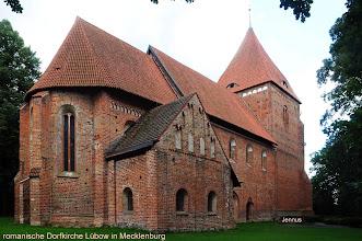 Photo: Die romanische Dorfkirche in Mecklenburg erhält im Jahre 2011 eine neue Bronzeglocke. Finanziert  wurde der Glockenguss durch Spenden der Gemeindemitglieder und Anwohner.