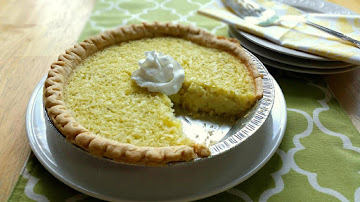 Lime Coconut Buttermilk Pie Recipe
