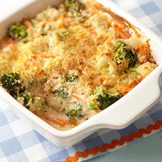 Cheesy Vegetable Bake.