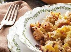 Roasted Garlic & Leek Bread Casserole Recipe