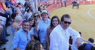 Fernando Morán, Rita Azcárraga, Amalia Sánchez, Juan Ronda, Verónica Fernández de Córdoba y Andrés Sánchez Magro, magistrado.