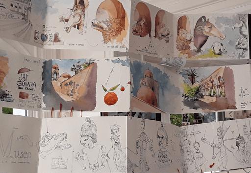 expo CARNET DE VOYAGE Aigle Noir FONTAINEBLEAU sept 2019_ Seine et Marne