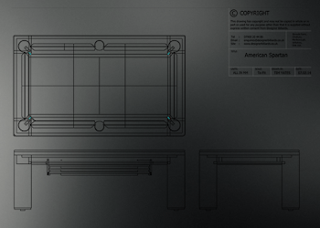 USA Spartan Table Blueprint