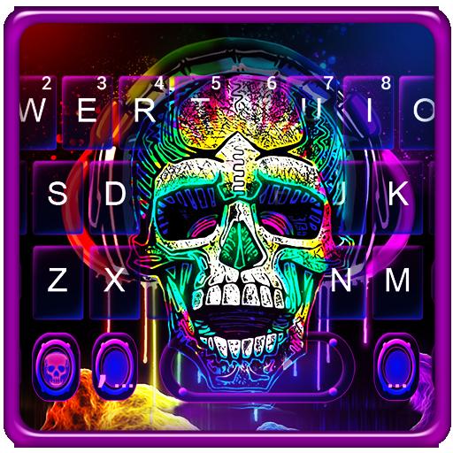 Graffiti Colorful Skull Keyboard Theme