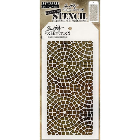 Tim Holtz Layered Stencil 4.125X8.5 - Mosaic