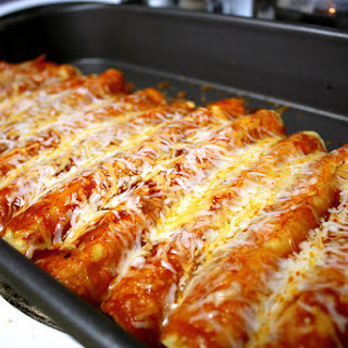 Easy Cheesy Chicken Enchiladas.