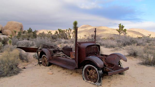 Old truck near Wall Street Mill