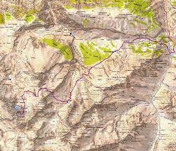 Photo: Un plano de la zona y la actividad