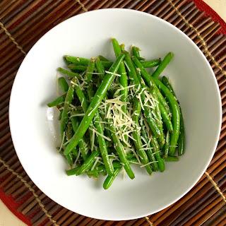 Sautéed Green Beans with Parmesan.