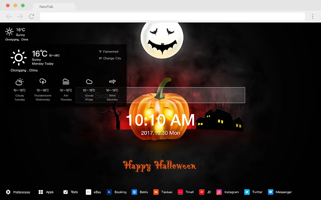 Jack-O'-Lantern HD Decoration New Tab Theme