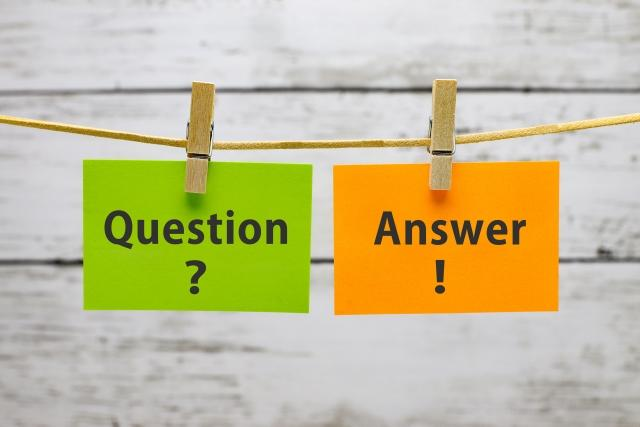 質問と答えの写真