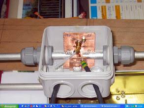 Photo: Préparation de la protection coax pour la boite Trombone
