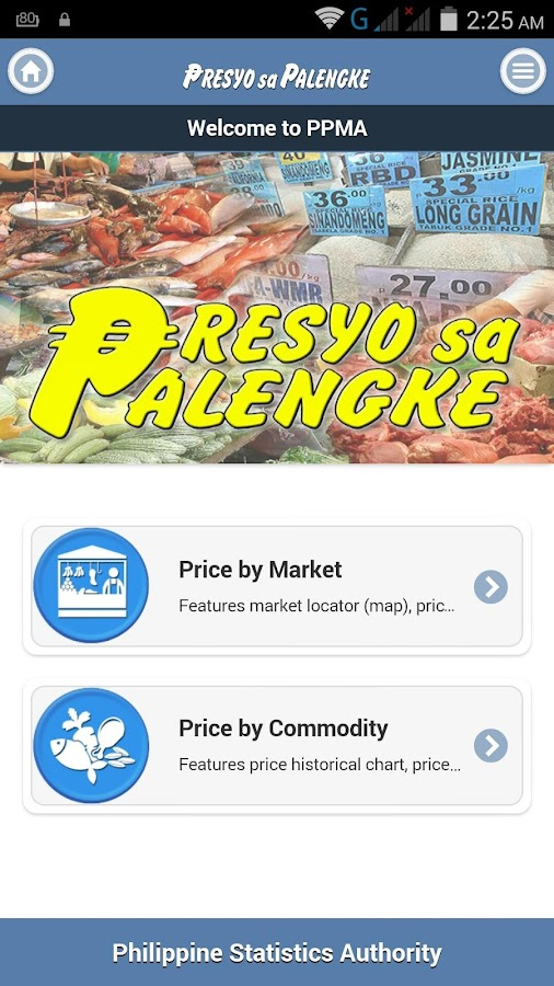 Presyo sa Palengke Mobile App- screenshot