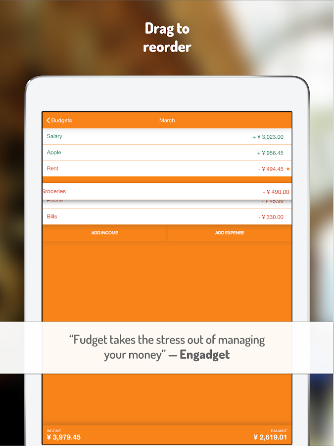 Budget and expense tracking app: Fudget- screenshot