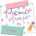 Sticky Memo Notepad *Dots* 3 Free icon