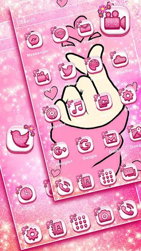 bling love heart launcher theme live hd wallpapers screenshot 3