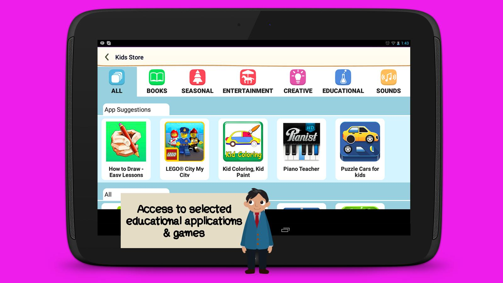 WeAreFamily Kids tablet- screenshot