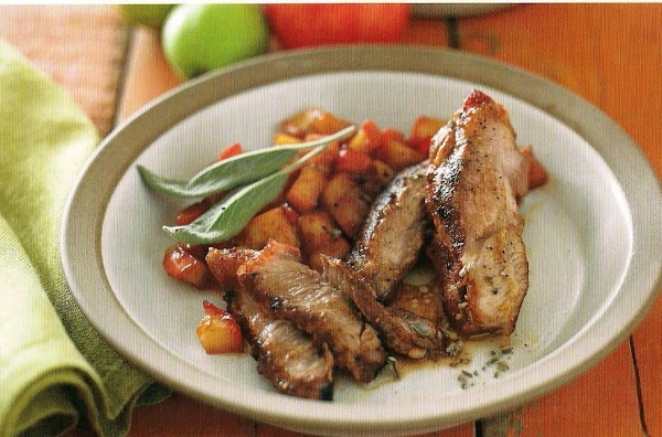 Grilled Country Ribs With Sautéed Apples Recipe
