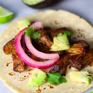 Slow Cooker Carnitas Street Tacos.