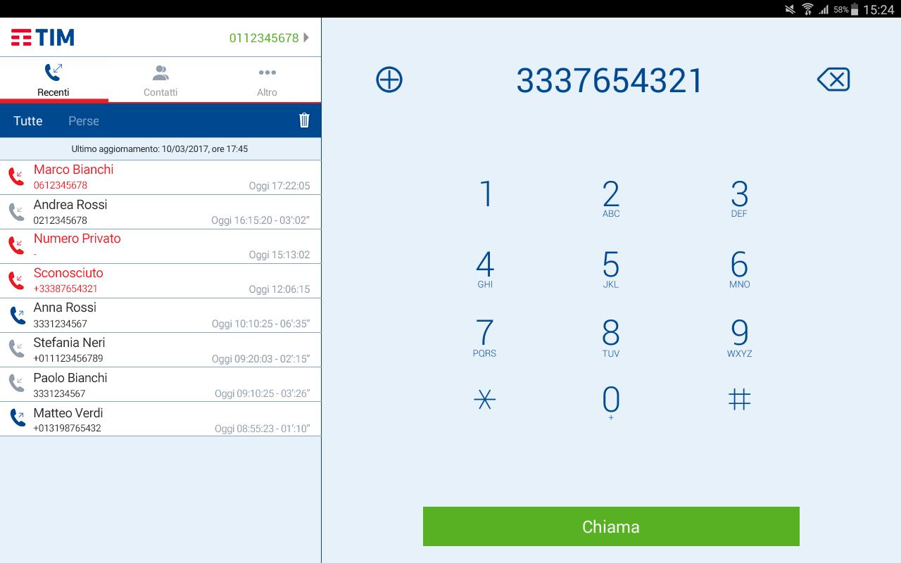 Tim telefono app android su google play for Offerta telecom per clienti da piu di 10 anni