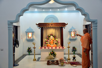 Photo: Arati for Sri Ramakrishna