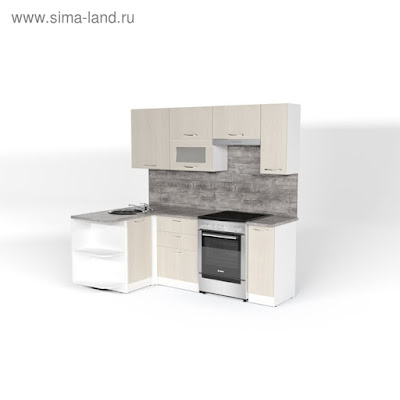 Кухонный гарнитур Лариса прайм 2 1300*2100 мм