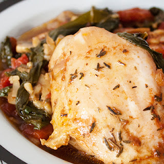 Balsamic Chicken Recipe with Barley and Chard