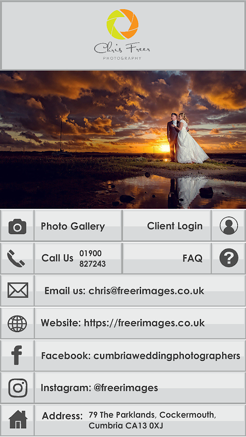 Chris Freer Photography- screenshot