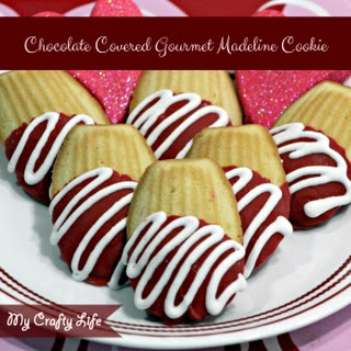 Chocolate Covered Gourmet Madeline Cookies.