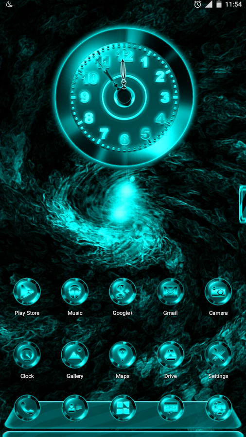 Next Launcher Theme MixedCYAN- screenshot