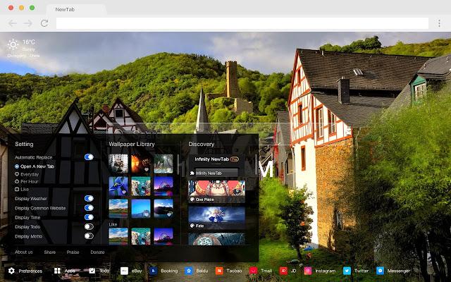 Landscape New Tab HD Photography Theme