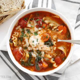 Garden Vegetable Lasagna Soup.