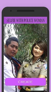 Selfie Camera With Beauty Policewoman - náhled