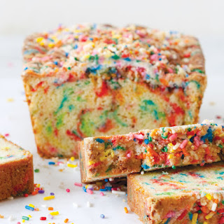 Rainbow Sprinkle Bread with Birthday Crumb Topping.